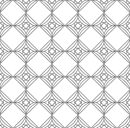 Vector seamless pattern. Black and white Repeating geometric pattern