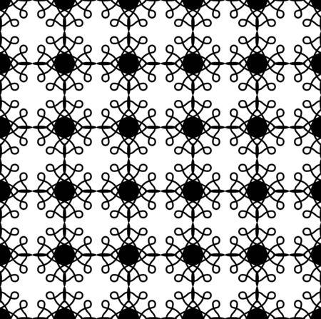 벡터 원활한 패턴입니다. 흑인과 백인 반복 소용돌이 패턴