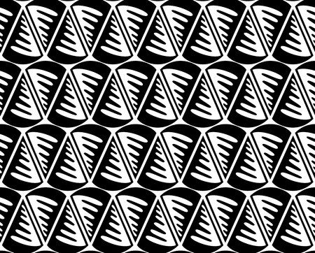 Vector seamless pattern. Black and white Repeating geometric pattern Stock fotó - 89195121