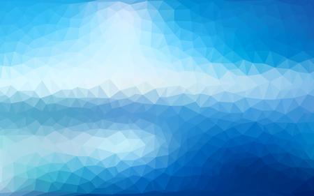 クールなグラデーション未来のパターンを持つ抽象色とりどりの低ポリベクトルの背景。  イラスト・ベクター素材