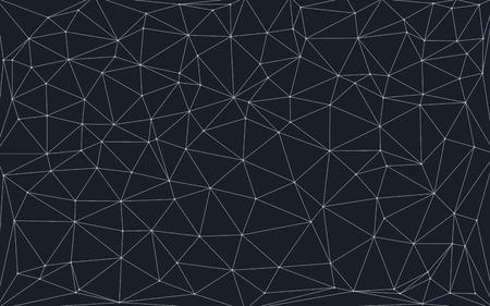 Bassa sfondo poli con punti di collegamento e linee