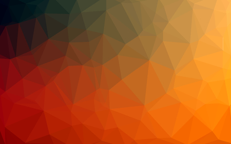 Abstract Colorful Low poly Vector Background with orange gradient futuristic pattern.