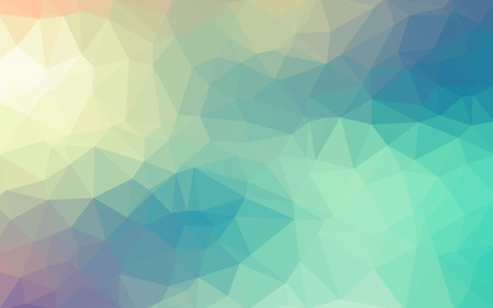 Light blue smooth vector Low poly crystal background. Polygon design pattern. Low poly illustration background. Illustration