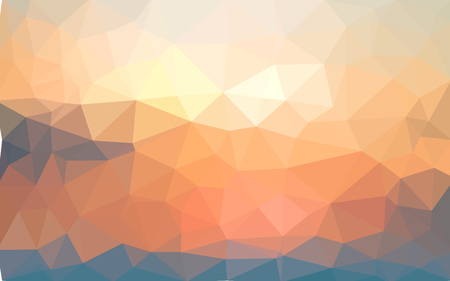 Light yellow summer vector Low poly crystal background. Polygon design pattern. Low poly illustration background.