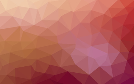 Light red vector Low poly crystal background. Polygon design pattern. Low poly illustration background.