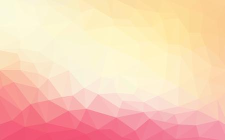 Light pink orange vector Low poly crystal background. Polygon design pattern. Low poly illustration background.