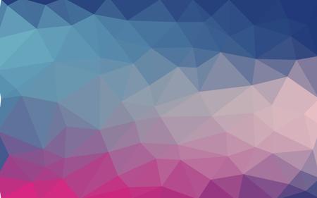 幾何学図形の背景。カラフルなモザイク柄。ベクトル EPS 10.ベクターイラスト。青、ピンク、紫の色