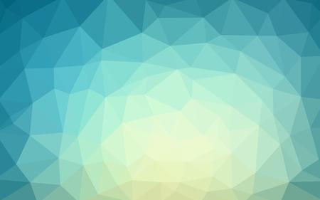 薄い青ベクトル低ポリ結晶背景。ポリゴンデザインパターン。低ポリゴンイラストの背景。