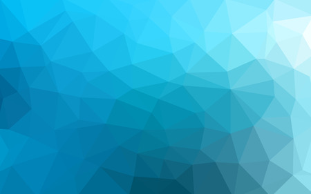 Light blue vector Low poly crystal background. Polygon design pattern. Low poly illustration background.
