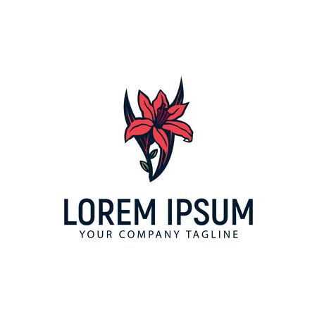 carmellia flower logo design concept template