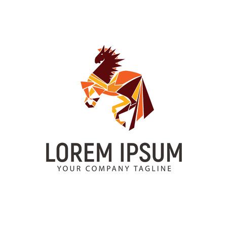 Head horse icon design template, vector illustration.