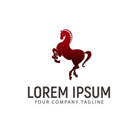 horse jump logo design concept template