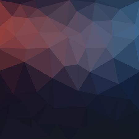 밝은 파란색 어두운 벡터 낮은 폴 리 크리스탈 배경. 다각형 디자인 패턴. 낮은 폴 리 그림 배경.