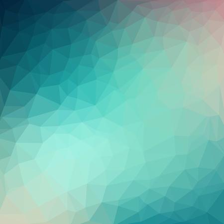 Sfondo di cristallo fresco blu basso poli cristallo modello. design poligono Vettoriali