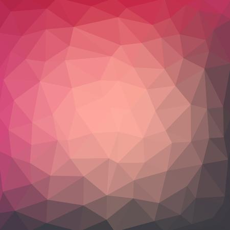 밝은 빨간색 벡터 낮은 폴 리 크리스탈 배경. 다각형 디자인 패턴. 낮은 폴 리 그림 배경.