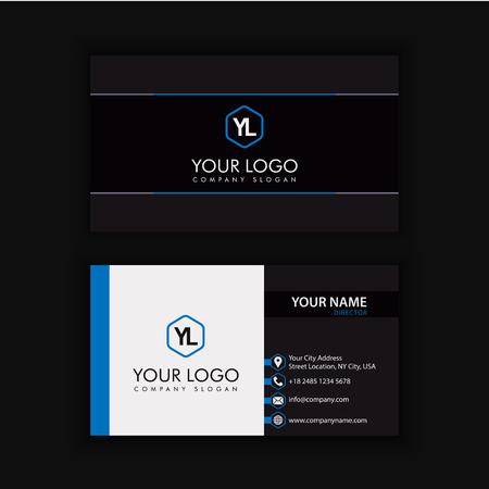 Modèle de carte créative moderne et créative avec la couleur bleue bleue Banque d'images - 90158091