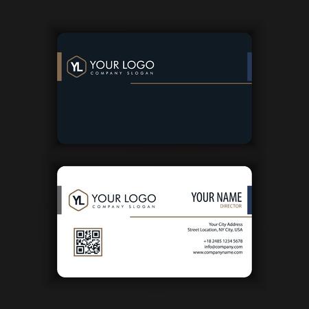 Modern creatief en schoon visitekaartje met gouden donkere kleur Stockfoto - 90158095