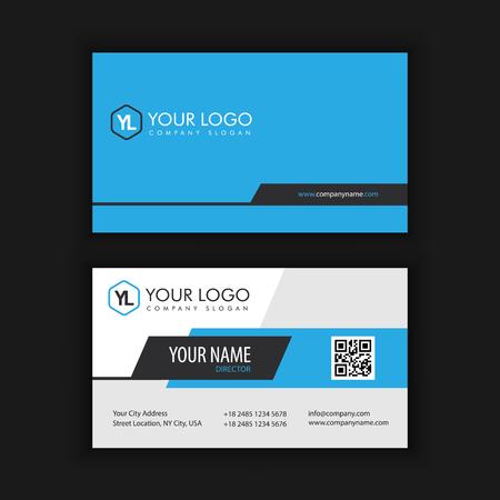 Modèle de carte créative moderne et créative avec la couleur bleue bleue Banque d'images - 90158094