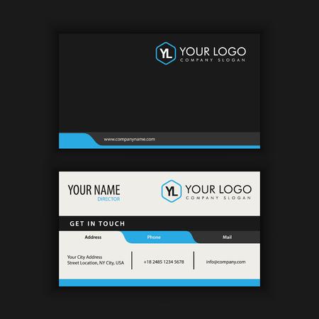 Modèle de carte créative moderne et créative avec la couleur bleue bleue Banque d'images - 90158097