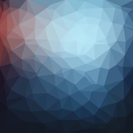 暗いブルー抽象的な幾何学的、低ポリ スタイル ベクトル イラストレーション グラフィックの背景