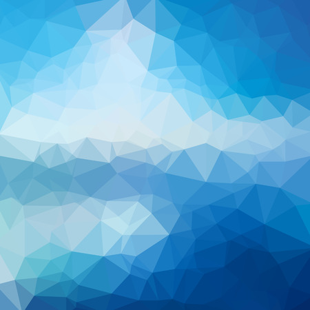 Low poly abstract blue background consisting of triangles. Vector art. 向量圖像