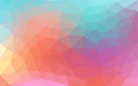 明るいパステル色ベクトル低ポリ結晶背景。多角形デザイン パターン。低ポリ イラスト背景。