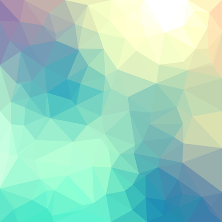 Light pastel color vector Low poly crystal background. Polygon design pattern. Low poly illustration background. Фото со стока - 90306025