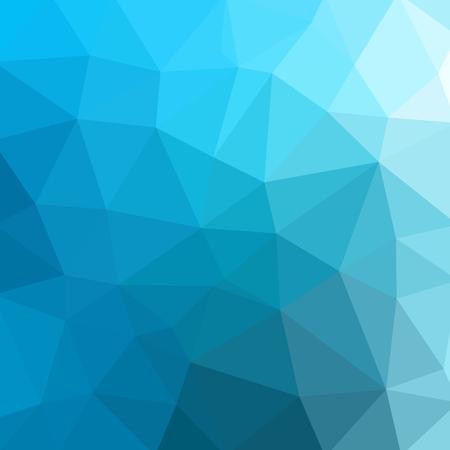 低ポリ抽象的な青い背景の三角形から成る。ベクター アートです。