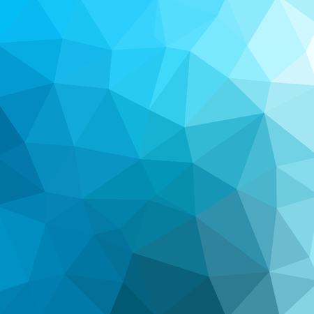 Low poly abstract blue background consisting of triangles. Vector art.