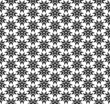 Modello senza cuciture geometrico stella astratta. Ripetendo la trama geometrica in bianco e nero. Archivio Fotografico - 92731221