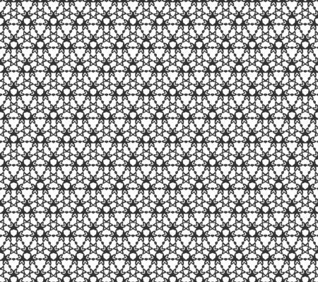 추상 형상 원활한 패턴입니다. 기하학적 인 흑백 질감 반복. 일러스트