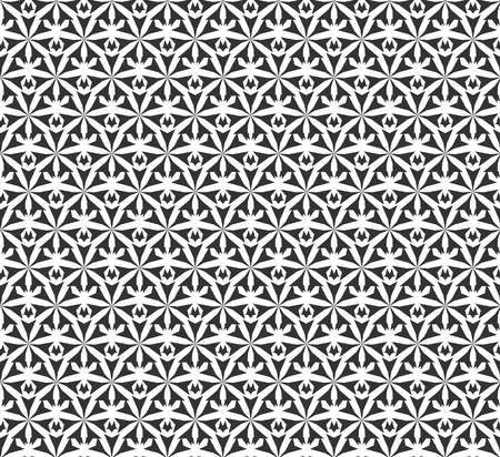 Abstract geometric Seamless pattern . Repeating geometric Black and white texture.