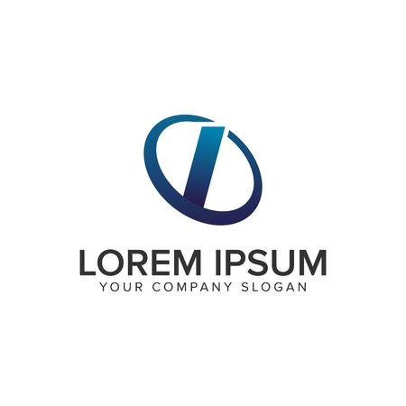 Creative modern letter I Logo design concept template . fully editable vector