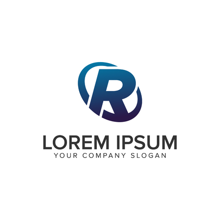 Creative modern letter R Logo design concept template . fully editable vector Illustration