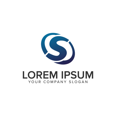 Creative modern letter S Logo design concept template . fully editable vector Stock Illustratie