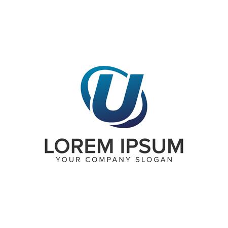 Creative modern letter U Logo design concept template . fully editable vector