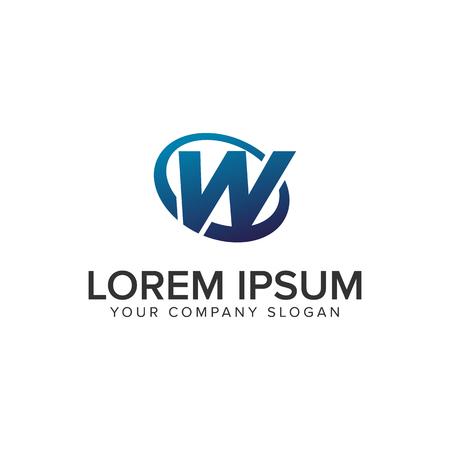 Creative modern letter W Logo design concept template . fully editable vector Vectores