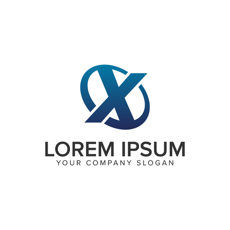 Creative modern letter X Logo design concept template . fully editable vector