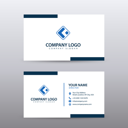 Modern Creative and Clean Business Card Template with blue color . Fully editable vector.