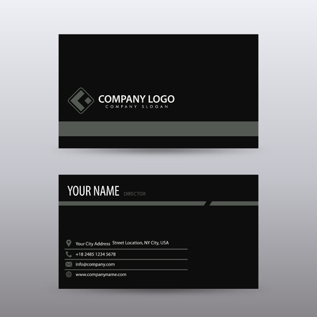 Modern Creative and Clean Business Card Template with Black color . Fully editable vector. Banco de Imagens - 94503959