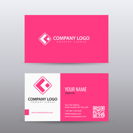 Modern creative and clean business card template with pink color modern creative and clean business card template with pink color fully editable vector stock maxwellsz