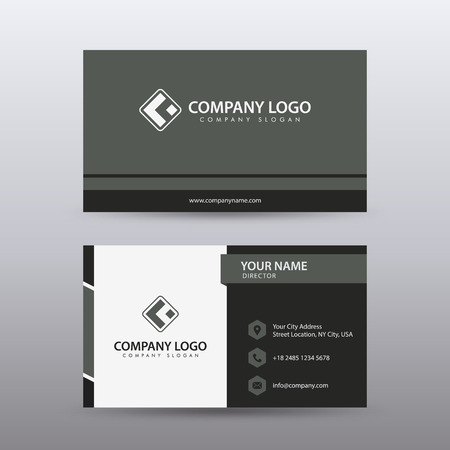 Modern Creative and Clean Business Card Template with Red Black color . Fully editable vector.
