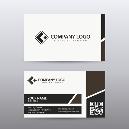 Modern Creative and Clean Business Card Template with dark color . Fully editable vector. Illustration