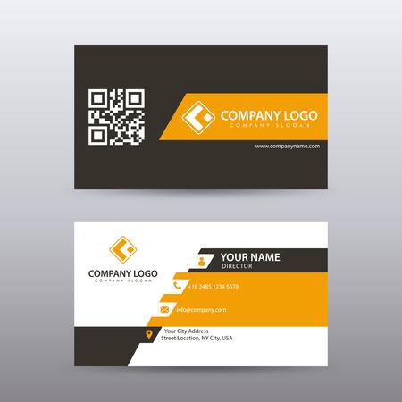 Molde criativo e limpo moderno do cartão de visita com cor preta alaranjada. Vetor totalmente editável. Ilustración de vector