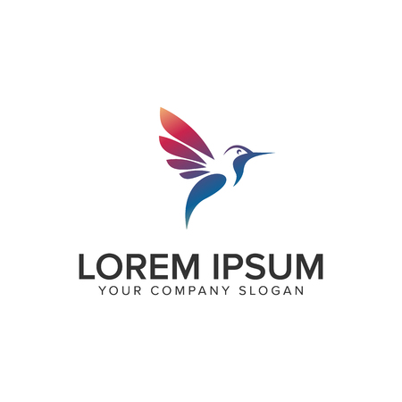 modern bird logo design concept template. fully editable vector