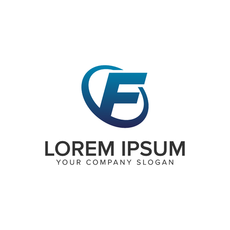 Creative modern letter F Logo design concept template . fully editable vector Иллюстрация