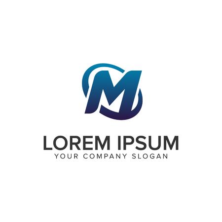 Creative modern letter M Logo design concept template . fully editable vector