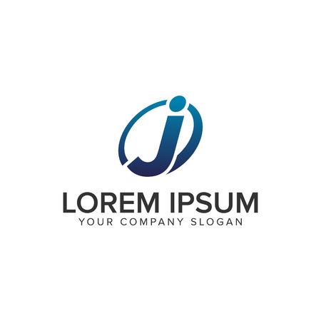Creative modern letter J Logo design concept template . fully editable vector