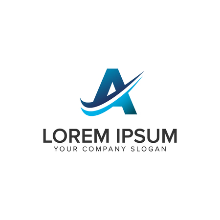 Cative Modern letter A Logo design concept template. fully editable vector