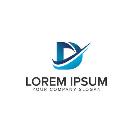 Cative Modern letter D Logo ontwerpsjabloon concept. volledig bewerkbare vector